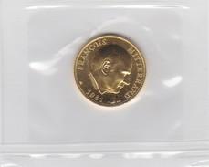 Medaille Or 999 François Mitterrand 1981 6,45 Gr équivalent à La Pièce De 20 Fr - Unclassified
