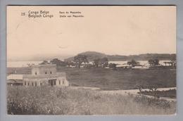 AK Afrika Kongo (belg.) 1913-04-07 Kinshasa GS 5 Cent #25 Gare Du Mayumbe (Klebestelle) - Congo Belge - Autres