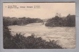 AK Afrika Kongo (belg.) 1914-04-14 Kinshasa GS 5 Cent #3 Katanga - Congo Belge - Autres