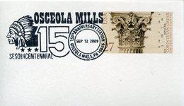 17904 U.s.a. Special Postmark 2009 Osceola Mills Sequicentennial, Indian