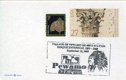 17905 U.s.a. Special Postmark 2009 Pewamo, Sequicentennial, Indian - American Indians