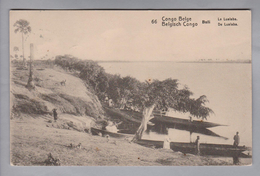 AK Afrika Kongo (belg.) 1914-04-07 Kinshasa GS 5 Cent #66 Buli Le Lualaba (Klebestelle) - Congo Belge - Autres