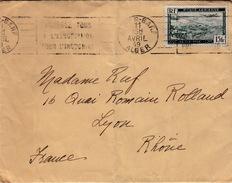 ALGERIE  - LETTRE ALGER POUR LYON 11 AVRIL 1949 - Brieven En Documenten