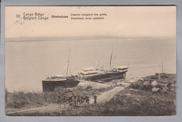 AK Afrika Kongo (belg.) 1914-04-? Kinshasa GS 5 Cent #30 Shinkakasa (Klebestelle) - Congo Belge - Autres