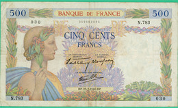 500 Francs  La Paix - France - N°N.783 030 - BP.25-7-1940.BP.. - TB+ - - 1871-1952 Circulated During XXth
