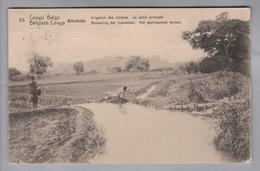 AK Afrika Kongo (belg.) 1914-04-07 Kinshasa GS 5 Cent #56 Kitobola (Klebestelle) - Congo Belge - Autres