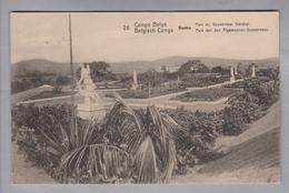 AK Afrika Kongo (belg.) 1914-04-07 Kinshasa GS 5 Cent #26 Boma Parc Du Gouverneur (Klebestelle) - Congo Belge - Autres