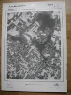 GRAND PHOTO VUE AERIENNE 66 Cm X 48 Cm De 1979  LEUZE EN HAINAUT TOURPES - Cartes Topographiques