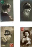 FEMMES- Portraits -Voir Scans- LOT De 8 CPA-(Toutes 1900 A1910) - Women