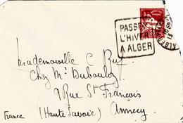 ALGERIE  - LETTRE ALGER POUR ANNECY 16.5.53 - DAGUIN PASSEZ L'HIVER A ALGER - Algérie (1924-1962)