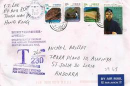 Belle Lettre Hong-Kong, Oblitération Spéciale Tsuan Wan Post-Office, Adressée ANDORRA,avec Timbre à Date Arrivée - 1997-... Chinese Admnistrative Region