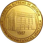 VENEZUELA. MEDALLA DEL TRIBUNAL SUPREMO DE JUSTICIA. 1.987. CON ESTUCHE ORIGINAL - Profesionales / De Sociedad