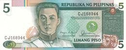PHILIPPINES 5 PISO (PESOS) 1985 P-168b UNC  [PH1027b] - Philippines