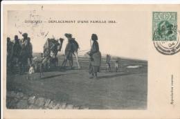 CPA DJIBOUTI Précurseur 1904 Déplacement D'une Famille Issa + Cachet + Timbre Ceylan Sri Lanka - Gibuti