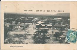 CPA DJIBOUTI Précurseur 1904 Diré-Daoua Vue De La Ville à Vol D'oiseau + Cachet + Timbre Cote Des Somalis - Gibuti