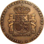MEDALLA CAMARA VENEZOLANO ESPAÑOLA DE INDUSTRIA Y COMERCIO. CON ESTUCHE - Professionals/Firms