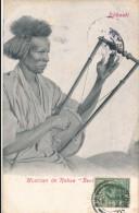 CPA DJIBOUTI Précurseur 1904 Musicien De Rabaa + Cachet + Timbre Ceylan Sri Lanka - Gibuti