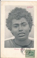 CPA DJIBOUTI Précurseur 1904 Femme Galla + Cachet + Timbre Ceylan Sri Lanka - Gibuti
