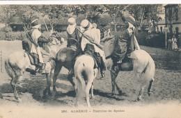 CPA ALGERIE Exercice De Spahis - Algeria
