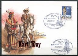 "Germany 1992 Sonderbeleg Indianer/Karl May Mit Mi.Nr.1314 U.SST""Hohenstein-Ernstthal-150.Geb. Von Karl May""1 Beleg"