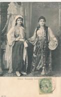 CPA EGYPTE Carte Précurseur Deux Femmes Turques En Costumes Et Coiffes Traditionnels - Egypt