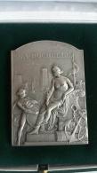 Medaille En Argent Massif  Conseil Municipal La Rochelle 109,64 Grs Monnaie De Paris - Professionali / Di Società