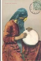 CPA EGYPTE Femme Musicienne Avec Tarabouca - Egypt