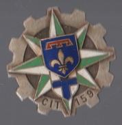 Insigne Militaire CIT 159 Centre D'Instruction Du Train Sans Agraphe - Esercito