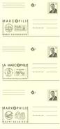Belg. 1996 - 3 X Marcofilie - Marcophilie - Markophilie (3 Talen - 3 Langues) - Entiers Postaux
