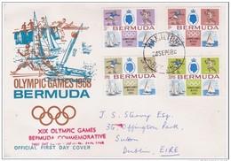 BERMUDA - 24 9 1968 FDC GIOCHI OLIMPICI
