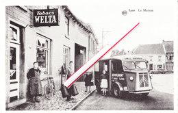 """LENS - La Maison """"Depoplimont - Butagaz Shell Et Tabacs Welta"""" - Superbe Carte Animée (voir Scans) - Lens"""