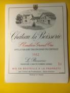 3404 - Château La Boisserie 1982 Saint-Emilion - Bordeaux
