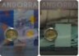 Andorre 2015 : Lot Des 2 Pièces De 2€ Commémorative (en Coincard) - Disponible En France - Andorra