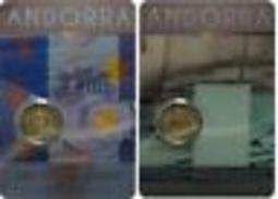 Andorre 2015 : Lot Des 2 Pièces De 2€ Commémorative (en Coincard) - Disponible En France - Andorre