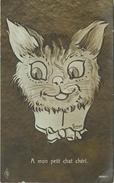 """CHATS - CAT -  """"A MON PETIT CHAT CHERI"""" - CPA  ILLUSTRATEUR; H. LEMKE. - Katten"""