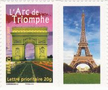 TIMBRE N° 72 ARC DE TRIOMPHE Adhésif Avec Logo Tour Eiffel - France