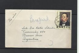 O) 1972 MEXICO, PRESIDENT 1858 TO 1861 BENITO JUAREZ, REFORM LAWS, COVER TO ARGENTINA - Mexico