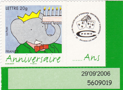 TIMBRE N°53 Adhésif Avec Logo  Club Philatélique D'enghien - France