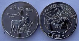 TUVA 2015 (REPUBBLICA RUSSA) 50 KONEEK CERVO  NON CIRCOLABILE  FDC UNC - Russia