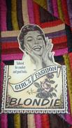 Ancienne Pub Carton BLONDIE - Plaques En Carton