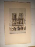 Reproduction  DESSIN  Paris - Notre Dame Ch - Nollet  19.5 X 29.5 Cm Sur Feuille Cartonnée 51 X 31 T.B.E. - Autres