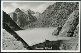 Staumauer Grimsel, Grimselsee, Kraftwerk, Stempel Alpenrösli - BE Berne