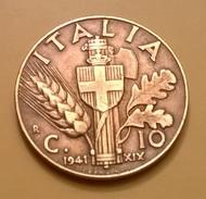 MONETA DEL REGNO 10 CENT. 1941 QSPL - 1900-1946 : Vittorio Emanuele III & Umberto II
