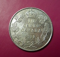 Canada 10 Cents 1912 Silver - Canada