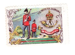 Vignette Militaire Delandre - Angleterre - The  Faith Ful Durhams - Erinnofilia