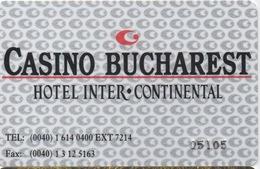 Casino Bucharest Hotel Inter-continental - Casino Cards