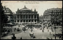 037-FRANCE PARIS OPÉRA La Place-square Mélange De Personnes-mix Of People Voitures Autobus-Cars Buses 9e Arrond.ca 1926 - Paris (09)