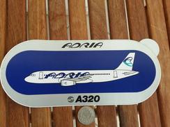 SLOVENIA  AIRLINES AIRPLANES  STICKER - Aufkleber