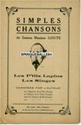 PARTITION ANARCHIE GASTON-MAXIME GOUTÉ MUSE ROUGE VACHE ENRAGÉE LES SINGES LES P'TITS LAPINS MONTMARTRE SATIRE POLITIQUE - Music & Instruments