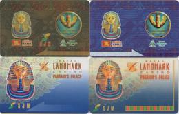 Lot De 4 Cartes Différentes : Landmark Casino Pharaoh's Palace SJM - Casino Cards